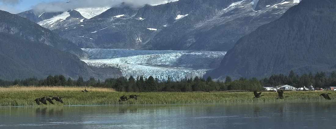 Alaska Lake View w/ Glacier
